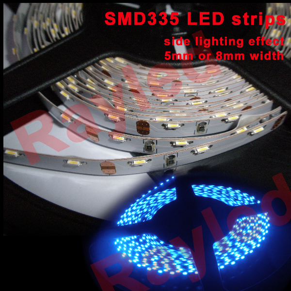 50m/lot,5mm/8mm width,SMD335 side emitting led strip light(China (Mainland))