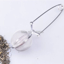 Tea Infuser Stainless Steel Tea Pot Infuser Sphere Mesh Tea Strainer Handle Tea Ball 6HP9U(China (Mainland))
