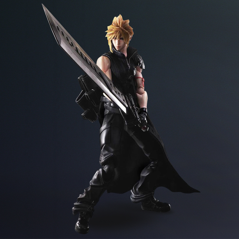 2016 Free shipping japan anime Final Fantasy 7 Play Arts Kai Claude 25cm pvc figure Model Brinquedos Play Arts Kai PVC(China (Mainland))
