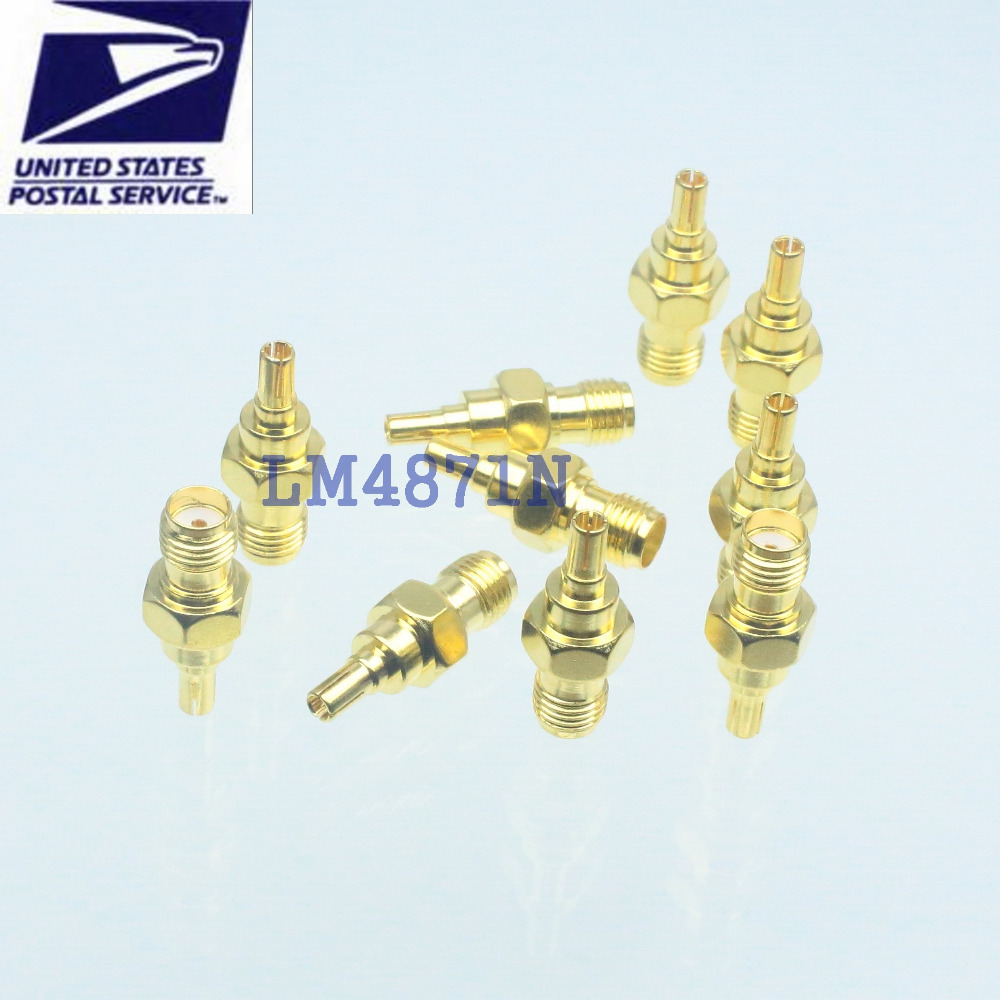 10pcs Adapter converter CRC9 male plug to SMA female jack pin for 3G USB modem(China (Mainland))