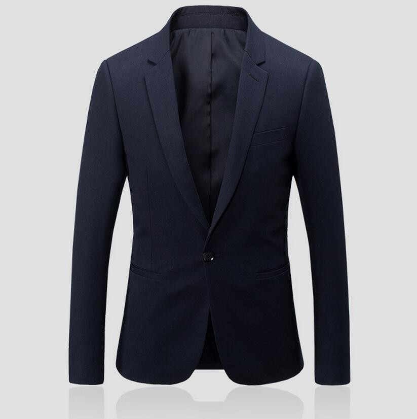 13.1 A grain of buckle men\`s suit jacket wedding the groom\`s best man suit jacket formal occasio pure color long sleeve business suit jacket