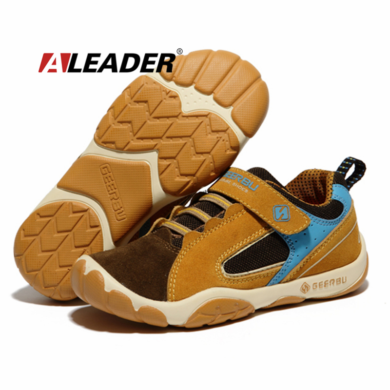 Genuine Leather Children Shoes for Boys 2015 Spring Summer Waterproof Boys Child Sport Shoes Breathable Casual Sneakers Trainers(China (Mainland))