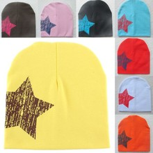 Cute Hot Baby Kid Toddler Cute Stars Printed Hat Soft Warm Cotton Girl Boy Beanie Cap