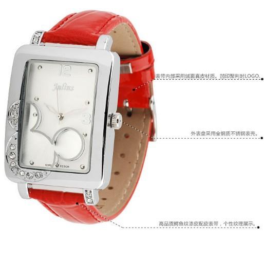 Fashion chic quartz Watches women dress watch Diamond sheet jelly students leather band wristwatch - Di Da store