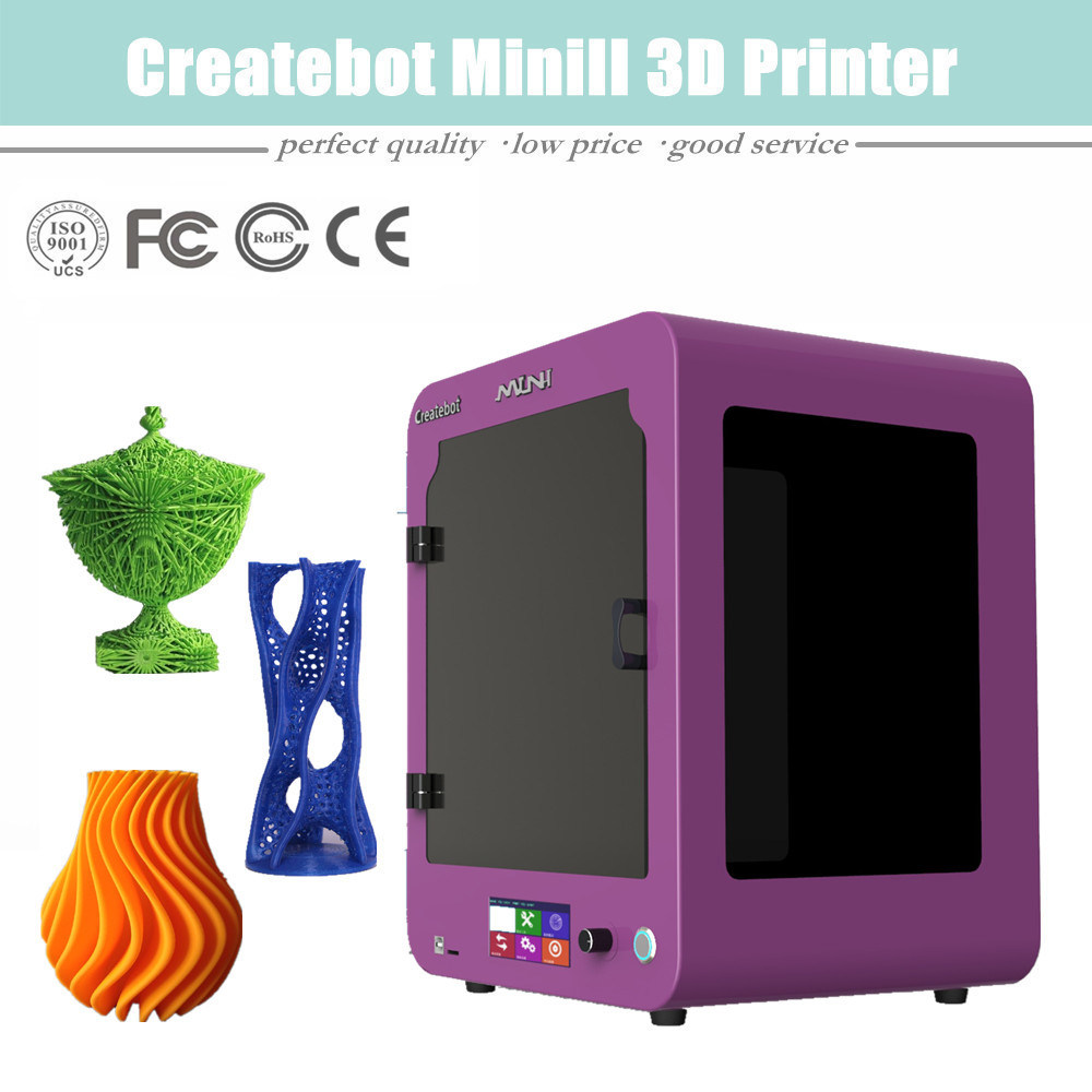 2015 New Upgraded Printing Size 150 150 220mm Desktop Type Createbot Mini 3D Printer with one