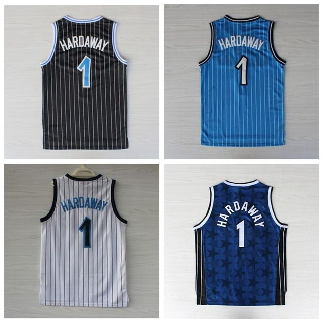Best Quality Stitched #1 Penny Hardaway Jersey Throwback Blue White Black Cheap Men's Basketball Jerseys Embroidered Logos(China (Mainland))