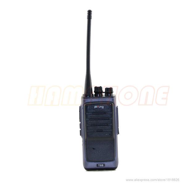 2pcs/lot Radio Walkie Talkie Pofung T88 Black UHF 400-480MHz 5W VOX FM Radio Monitor Scan walkie talkie Professional Transceiver(China (Mainland))