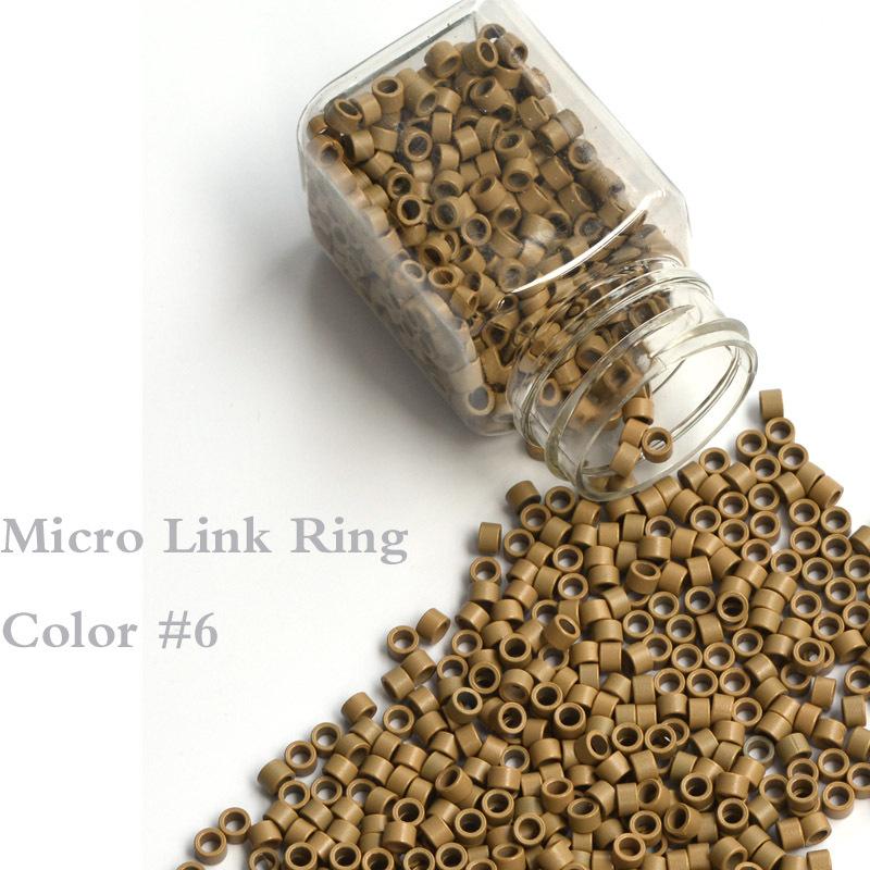 Aluminum Micro Links 4.0*2.7*2.7MM 1000Pcs/Bottle Medium Blonde #6 Hair Extension Beads Hair Extension Accessories Tools<br><br>Aliexpress