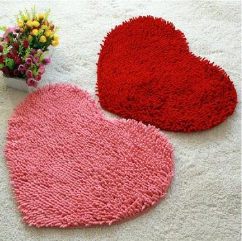 Пушистый спальня коврик ковровое покрытие коврик для ванной в форме сердца любви коврик 43 X 59 см синеля