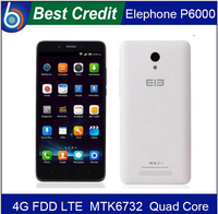 """3 gift) IN Stock 5.0"""" 1280*720 Elephone P6000 MTK6732 Quad Core 2GB RAM 13.0 MP 4G FDD 3G WCDMA android 5.0 smart mobile phone/E"""