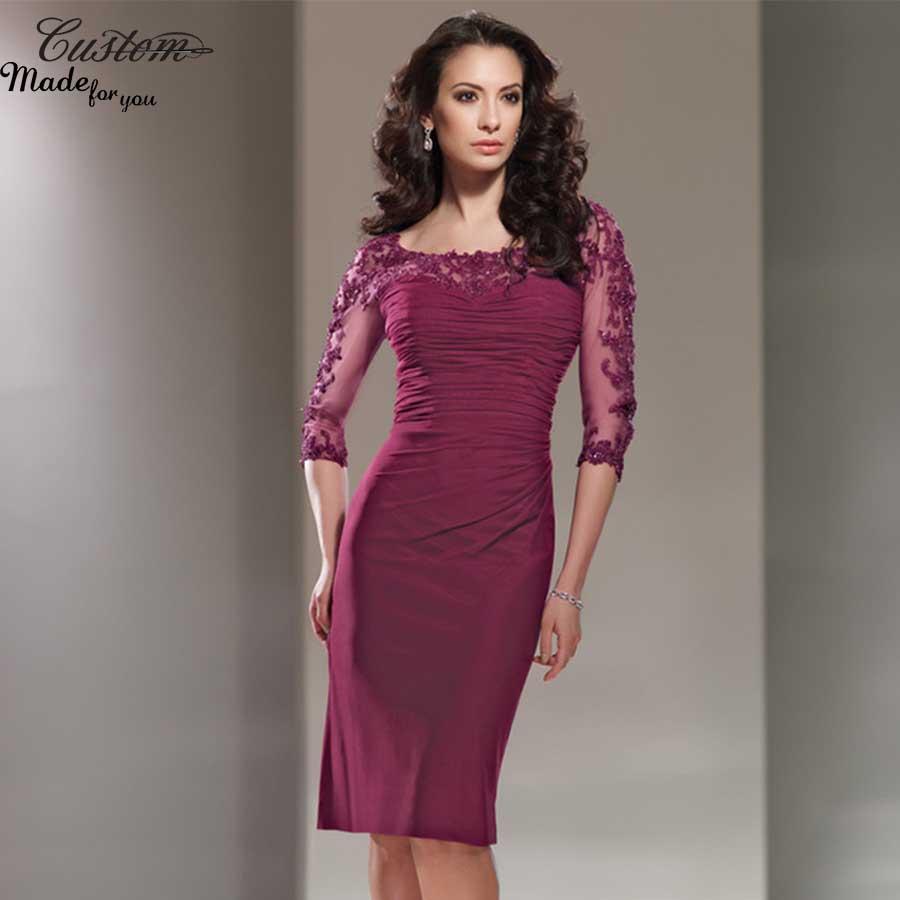 Online Get Cheap Plum Chiffon Mother of Bride Dress -Aliexpress ...