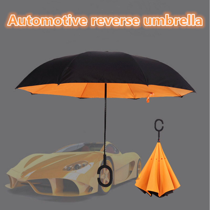 New Design umbrella reverse open umbrella creative type C umbrella flip folding professional umbrella(China (Mainland))