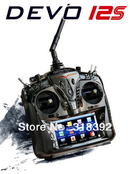 """Walkera DEVO12S/DEVO 12S With telemetry function 12Ch 4.7""""Touch Screen RX1202 Receiver Aluminum Case low shipping fee 2013 gift"""