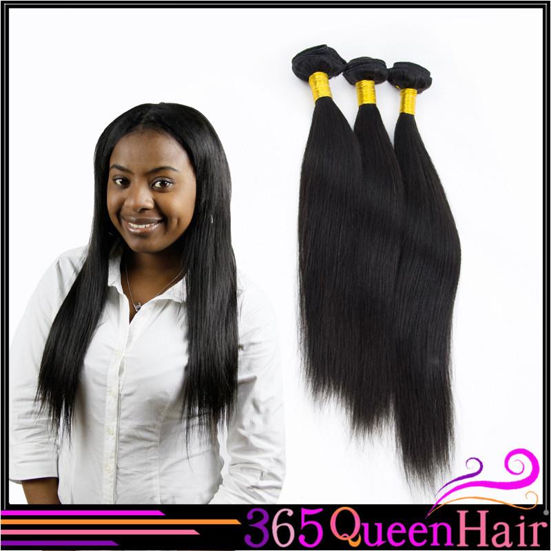 Peruvian virgin hair straight human hair extension weave Natural black unprocessed virgin human hair DHL/UPS Free shipping(China (Mainland))