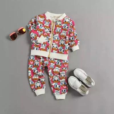 Скидки на Новый 2016 осень Новорожденных Костюмы Девочки Мальчики медведь одежда устанавливает Мода Спорт Дети пальто + брюки 2 шт. Костюм детская Одежда