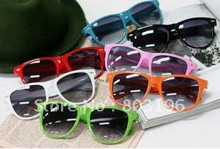Free shipping 10PCS/Lot Candy Colors Lovely Women Glasses 12 colors for choice
