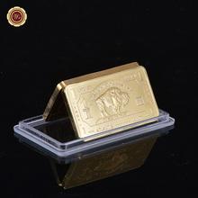 Replica 1 Troy Ounce Fine Bronze Decoration Gold Coin/Bars American Buffalo Bronze Gold Bar Atlantis Mint Souvenir Gold Bars(China (Mainland))