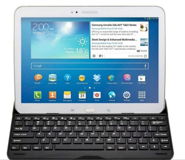 Free shipping Bluetooth3.0  Wireless Keyboard Case For Samsung Galaxy Tab 4 10.1 T530 T531(China (Mainland))