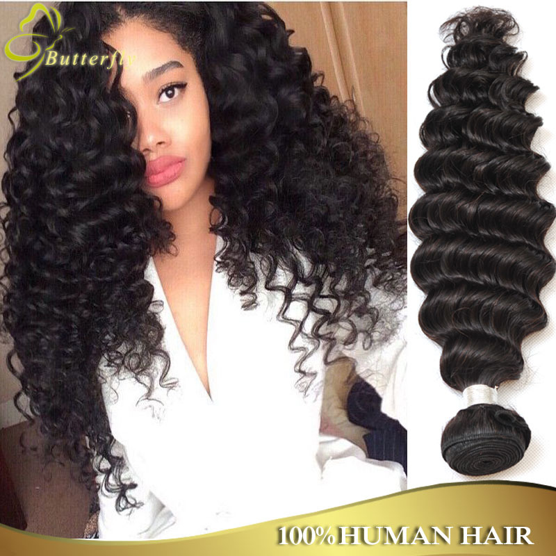 Unprocessed Rosa Hair Products Indian Virgin Hair Deep Wave 3Pcs/Lot Indian Curly Virgin Hair 100% Indian Remy Hair Deep Wave