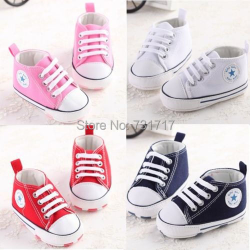 Baby shoes lovely soft sneakers boys girls infant toddler crib 3 sizes 0-18 months(China (Mainland))