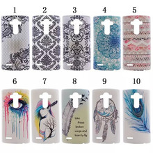Ultra Thin Transparent TPU Silicone Colourful Feather Phone Back Cover For LG Optimus G4 H818 H815 VS999 F500 Case,XX-P015
