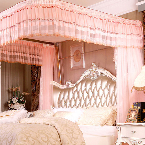 Jincao Luxurious Elegant Lace Bed Canopy Mosquito Net