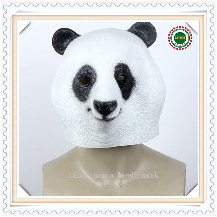 Free shipping Panda Mask Party Cospaly Halloween Costume Mask Theater Prop Novelty Latex Rubber Pandamaske CRO New Style(China (Mainland))