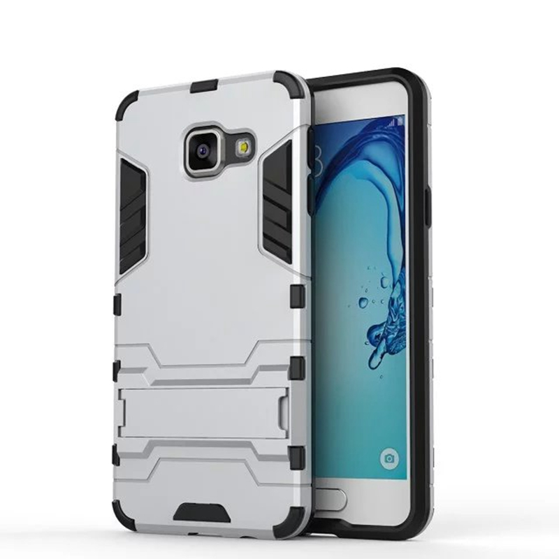 Hard Silm Hybrid Duty Armor Shield Case TPU PC Back Cover Protective For Samsung Galaxy A310 A510 A710 A3 A5 A7 2016 With Stand(China (Mainland))