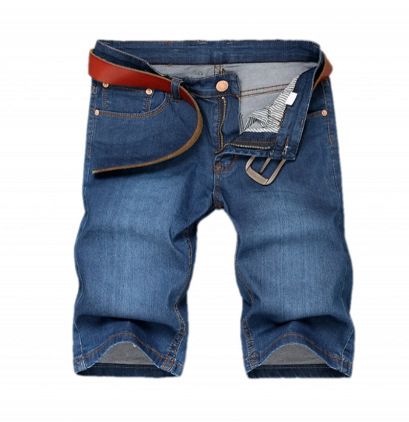 Young men's wear jeans > > business men high elastic thin straight leisure jeans(China (Mainland))