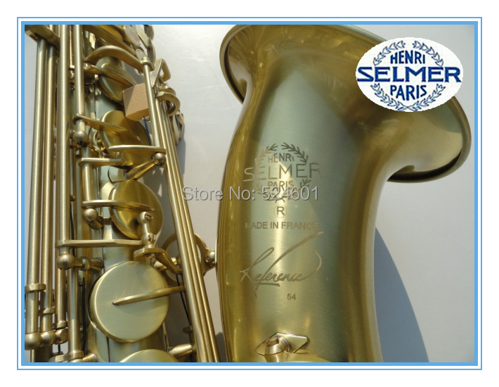 Low Price Henri SELMER Tenor Saxophone Music Instruments Reference 54 Bronze Plated with Gloves Cleaning Cloth Brush Straps(China (Mainland))