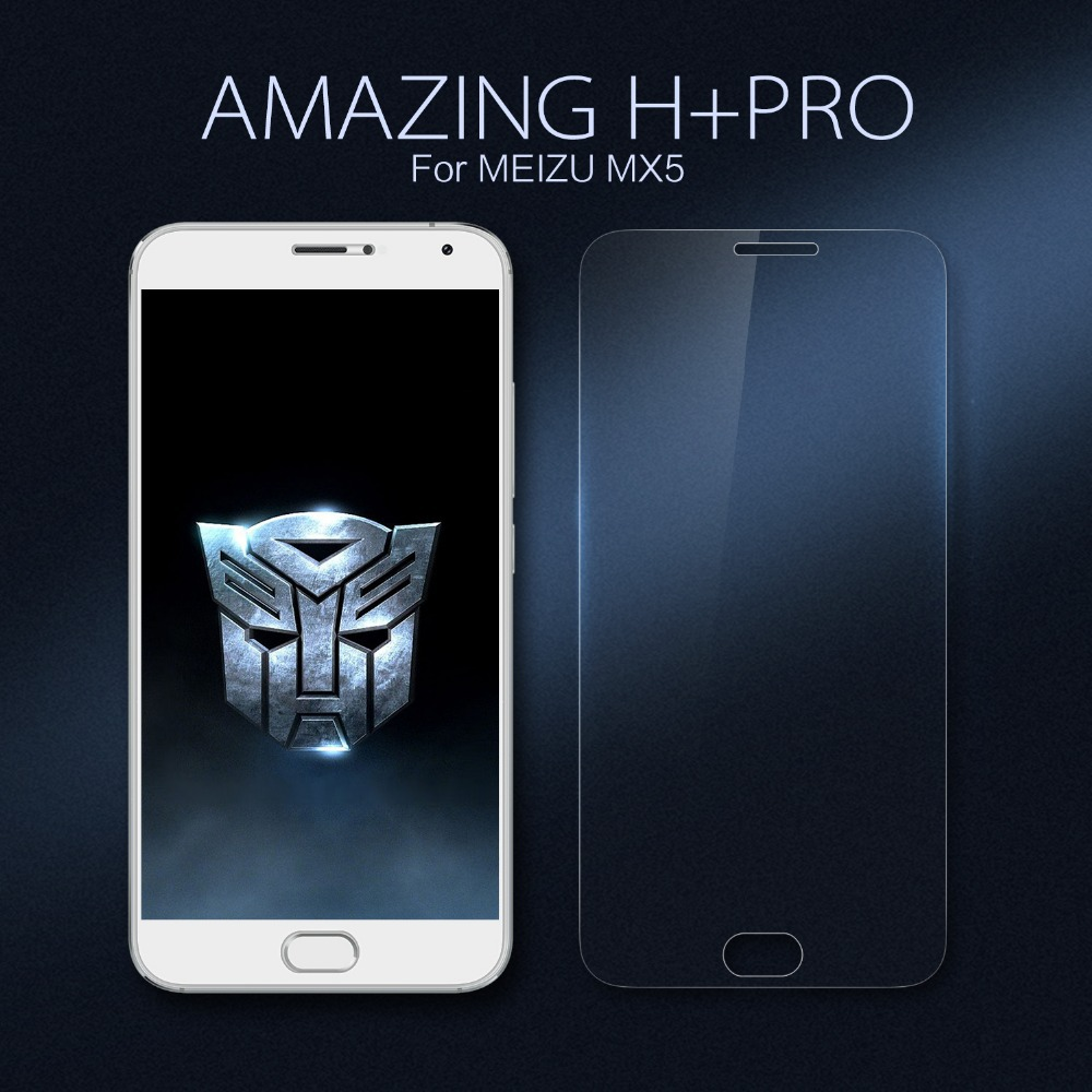 Nillkin Amazing H+ Pro Super Hardness Ultra-Thin Nano Anti-Explosion Tempered Glass Screen Protector Film for Meizu MX5 MX 5(China (Mainland))