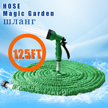 25FT-200FT Expandable Magic Flexible Garden Water Hose Green Hose Plastic Hoses Pipe With Spray Gun To Watering(China (Mainland))