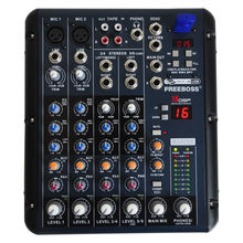 Freeboss SMR6 2 Mono + 2 stereo 6 channels 16 DSP USB professional dj mixer console(China (Mainland))