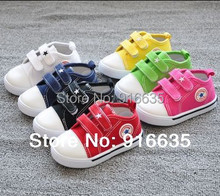 Spring Autumn New Candy color Fashion Canvas Shoes Slipping Baby First Walkers Shoes For Baby Shoes(China (Mainland))