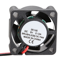 2510S 5V Cooler Brushless DC Fan 25*10mm Mini Cooling Radiator Free Shipping(China (Mainland))