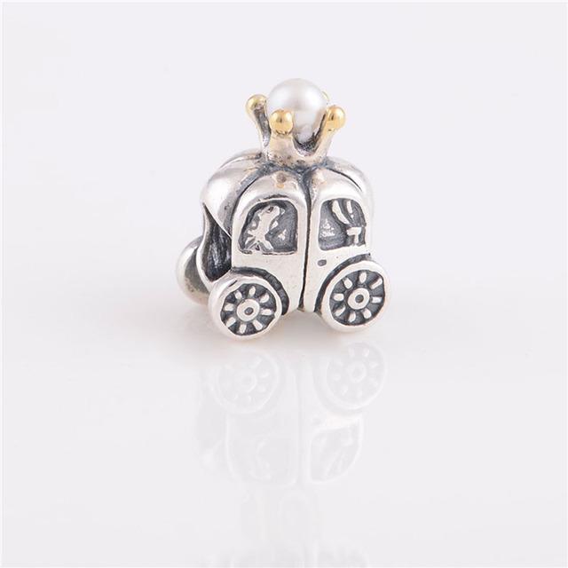 925 серебряные ювелирные изделия бусины тыквы перевозки с жемчугом бусины Fit подвески пандора браслет DIY мода ювелирных изделий серебро 925