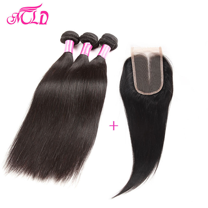 Peruvian Straight Virgin Hair With Closure 3 Bundles Peruvian Hair With Closure Virgin Peruvian Hair Bundles Straight Human Hair