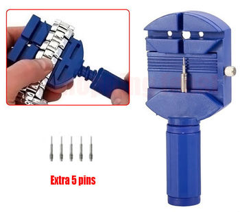 wholesale Free Shipping Watch Band Link Strap Remover Adjust Repair Tool w/ 5 pins Free Shipping