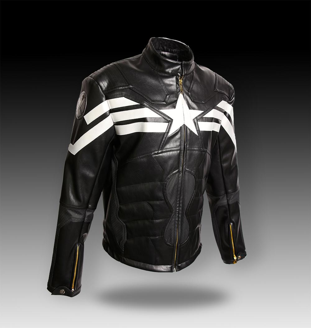online get cheap captain america leather jacket. Black Bedroom Furniture Sets. Home Design Ideas