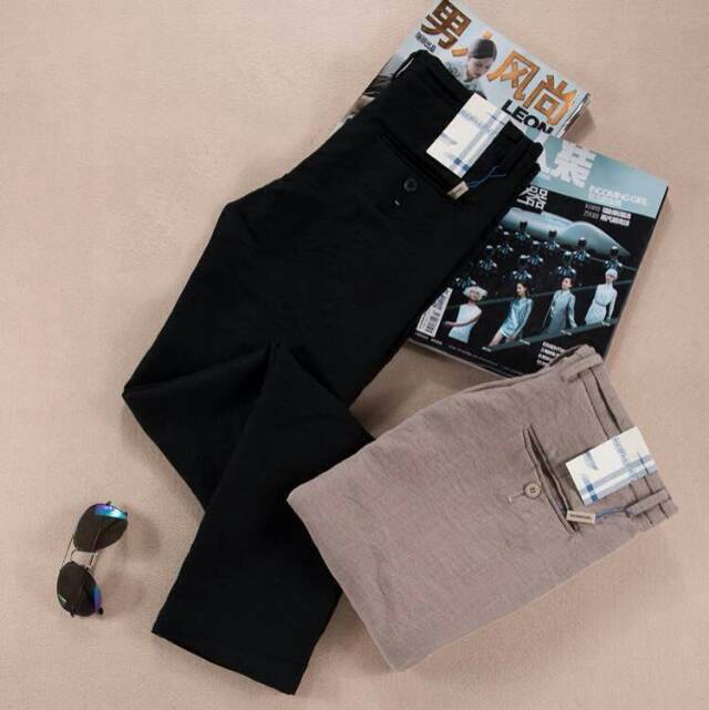 2015 Free Shipping Summer Style Mens Joggers Trousers Men Pants Casual Linen Breathe Freely Pant Cargo Straight Slim Vestido(China (Mainland))