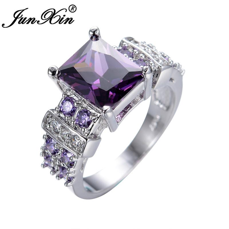 aliexpress buy junxin anel big amethyst