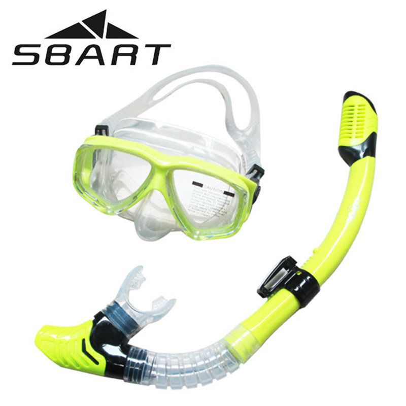 SBART Water Sports Training Snorkeling Swimming Glasses Equipment Anti-Fog Silicone Scuba Diving Mask Goggles Full-dry Snorkel(China (Mainland))