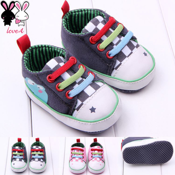 Factory direct supply cartoon baby shoes baby toddler shoes soft bottom 0-1 years old free shipping