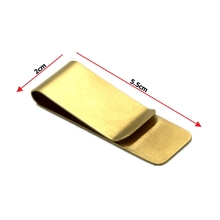New Gold Stainless Steel Silver Slim Pocket Money Clip Holder Cash ID Credit Card