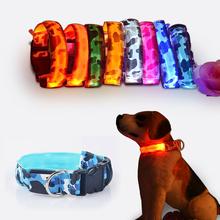 Камуфляж гибкая длина 35-60 см СВЕТОДИОДНЫЕ лампы ошейник с 7 цветов полосы света стиль вспышка света водить собаку поводок для собак pet/cat