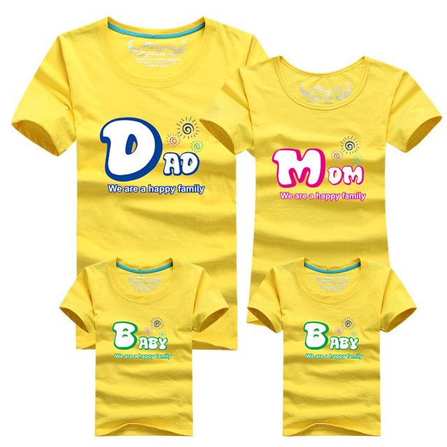 1 шт. 95% качество хлопка семьи соответствующие майка женщина мужские рубашки с коротким ...