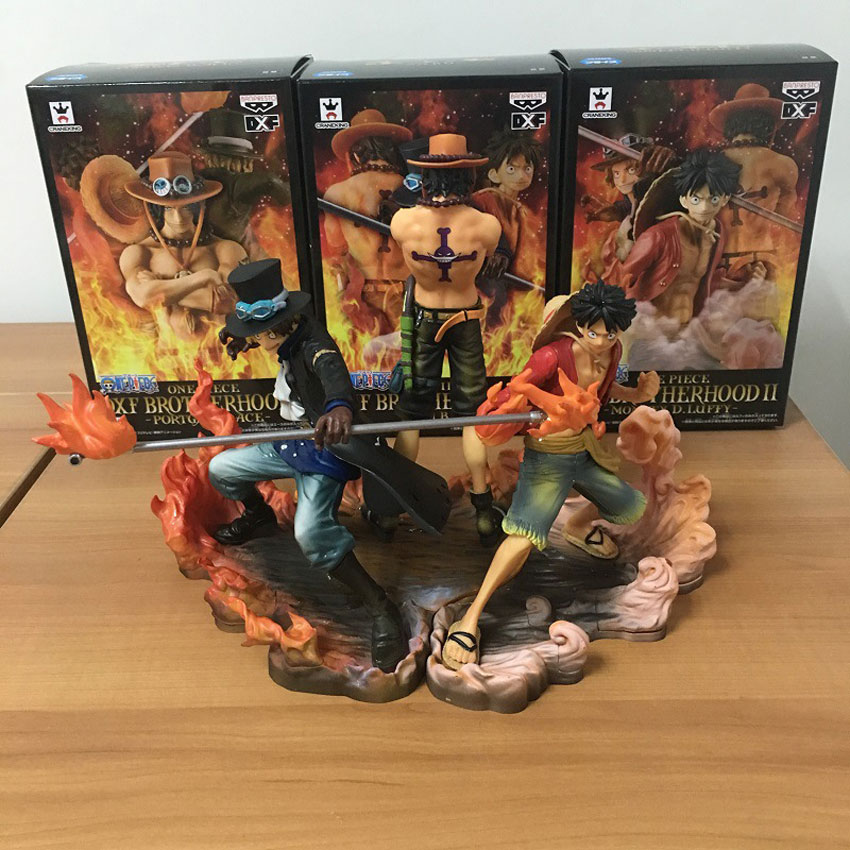 Banpresto Craneking DXF One Piece Figures Ace Luffy Sabo brotherhood Collectible Japan font b Anime b