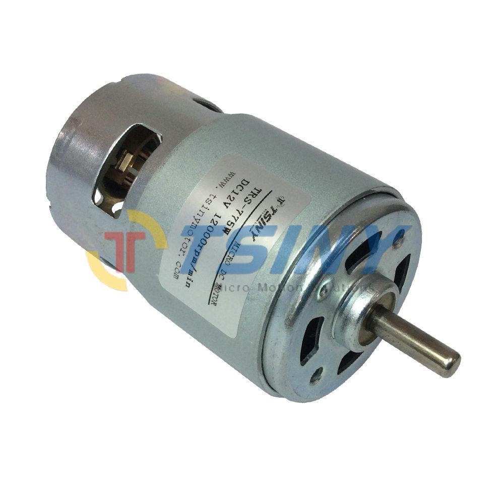 775 12v dc 12000rpm dc brush motor micro carbon brush for Brushes for dc motor