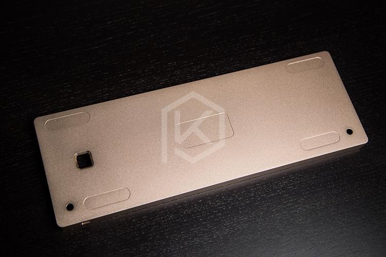 GH60 compact mechanical keyboard anodized alluminum case DIY poker2 golden case gaming keyboard FACEU keyboard metal
