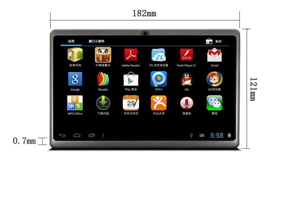 7 inch Q8 Allwinner A33 Quad Core Kids Tablet 512MB/4GB or 8GB Android 4.4.2 Kids Tablet PC Dual camera WIFI Tabs Q88
